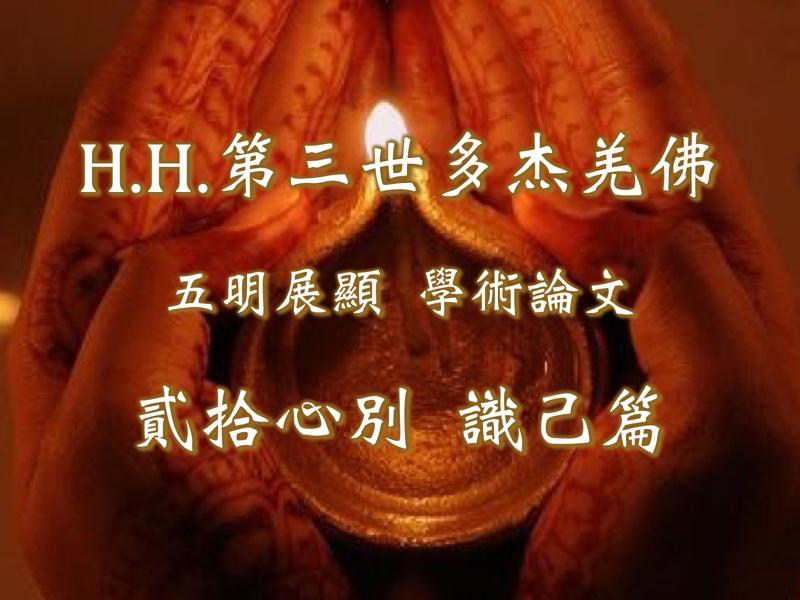 H.H.第三世多杰羌佛 五明展顯第十六大類-學術論文 貳拾心別 識己篇