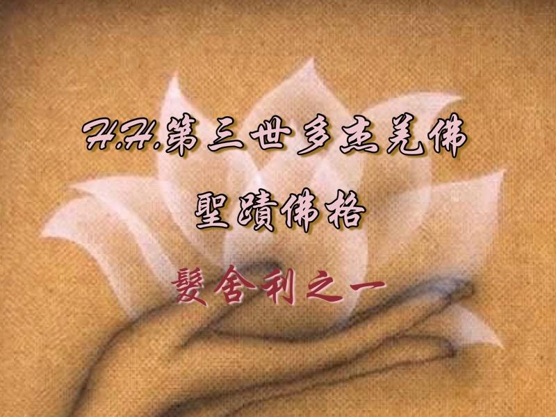 H.H.第三世多杰羌佛的聖蹟佛格-髮舍利之一