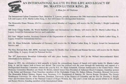 """2011年H.H.第三世多杰羌佛獲得馬丁路德金""""國際服務及領袖獎"""""""