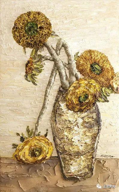 第三世多杰羌佛油画作品《向日葵》
