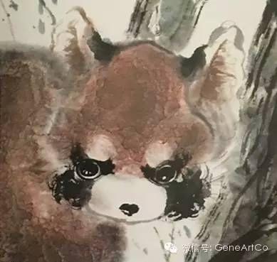 H.H.第三世多杰羌佛 中國畫《小熊貓》