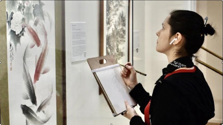 紐約藝院師生 來舊金山美國國際藝術館臨摹